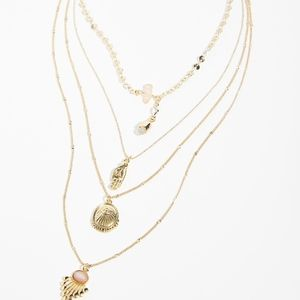 Free People Delicate Tiered Stone Necklace